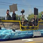 The pirate Shrimp Festival float takes takes 1st place nearly each year. A spectacular event that the kids and parents all enjoy.